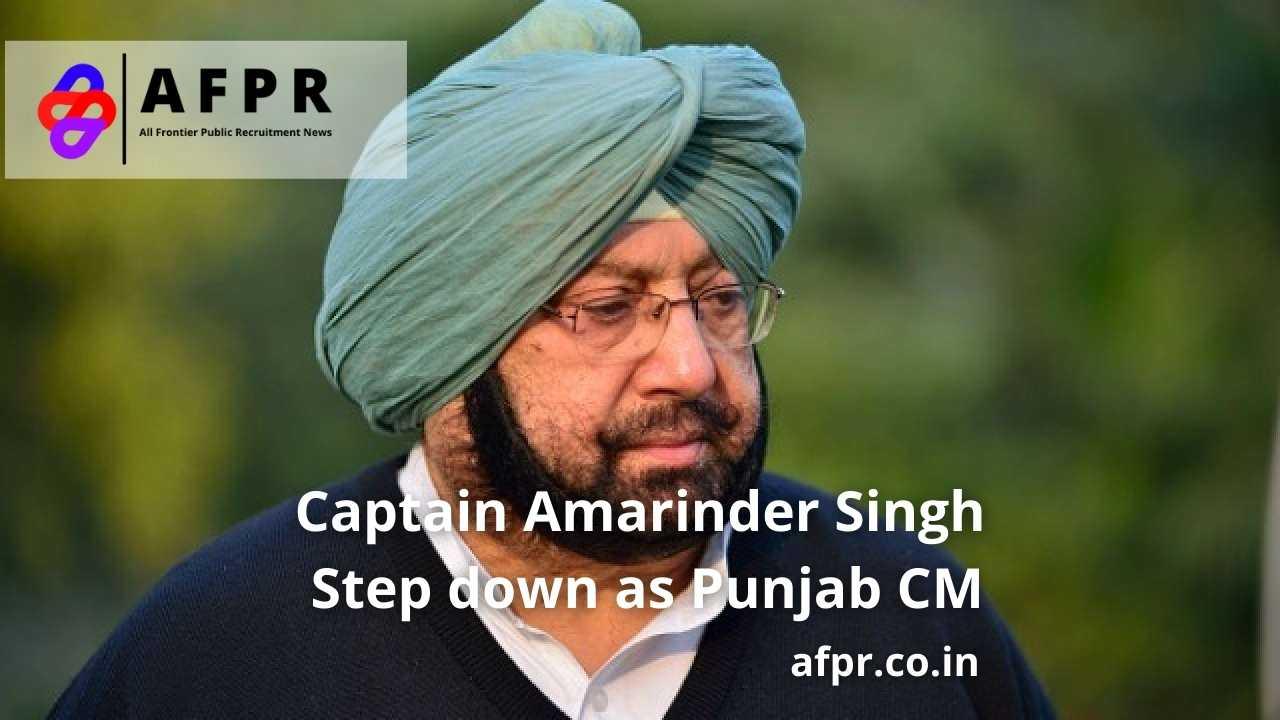 Amarinder Singh Step Down As Punjab Cm