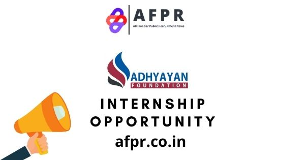 Policy And Research Intern At Adhyayan