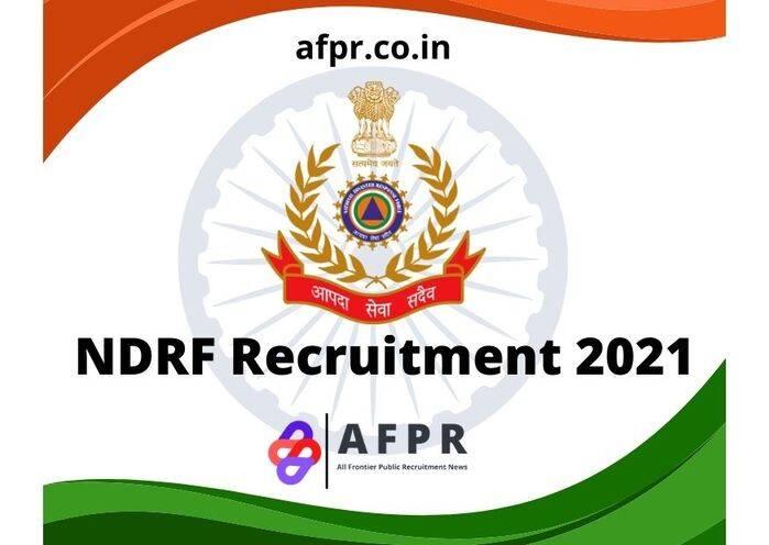 Ndrf Recruitment 2021