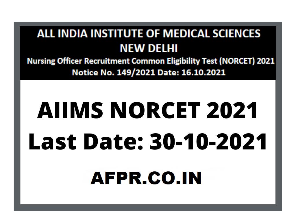 Norcet 2021 Recruitment