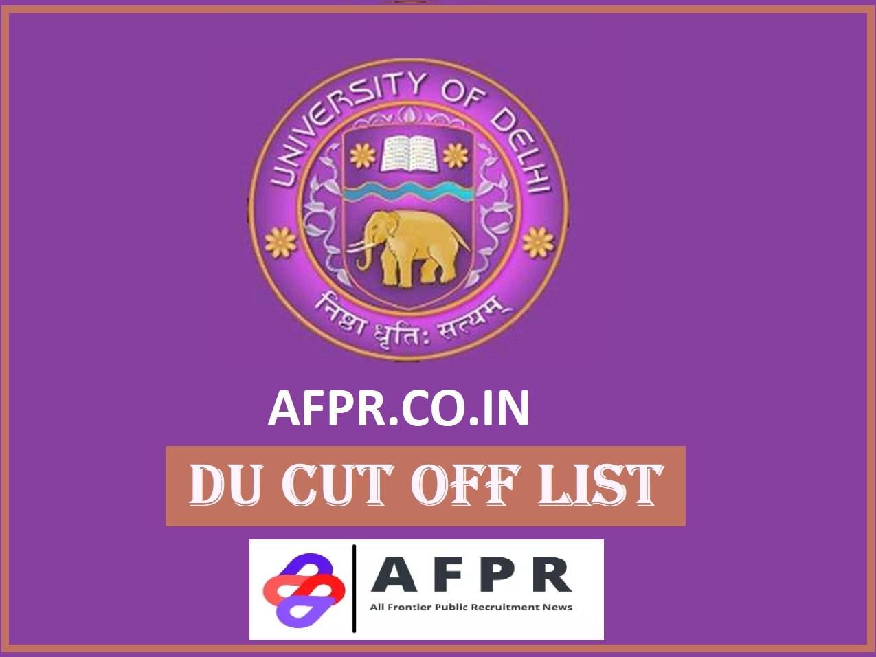 Du 1St Cut-Off List 2021